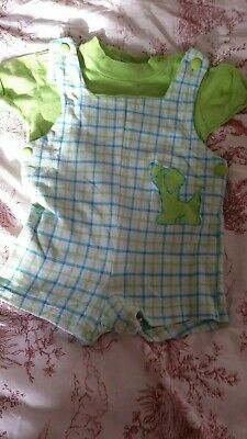 Vintage baby romper with T shirt 3 to 6 mth