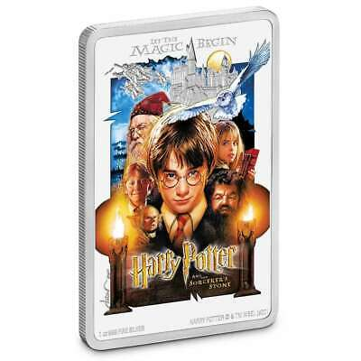 HARRY POTTER CLASSIC POSTER  Sorcerer's Stone 2020 1 oz Pure Silver Proof Niue