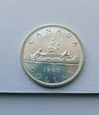 1965 CANADIAN SILVER DOLLAR   UNCIRCULATED ---No Reserve----
