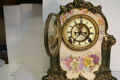 Antique Ansonia mantle  clock royal bonn la moselle