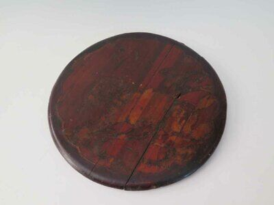 Antique Chinese Wedding Basket Lid with Art Drawing
