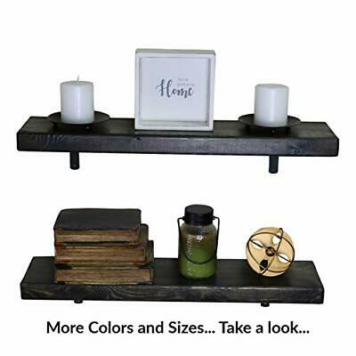 SDI Designs Floating Shelf Set, Weathered Collection, Rustic Espresso