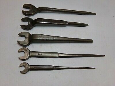Iron Workers Spud Wrenches, Vintage Tool Lot 5 Wrenches