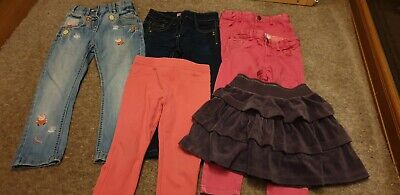 5 x Girls Jeans and Skirt Bundle Age 3-4 years, Peppa Pig, Next, Mini Club, F&F,