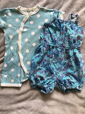 Two Cute Baby Romper Playsuit All In One Suits Polarn O Pyret 6-12 Months