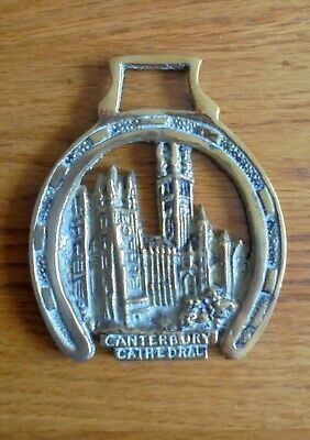 Vintage Horse Brass CANTERBURY CATHEDRAL