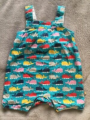 Frugi Whales Romper Playsuit 3-6 Months