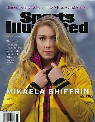 Sports Illustrated   March 2020  4 pages on  Kobe      Mikaela Shiffrin
