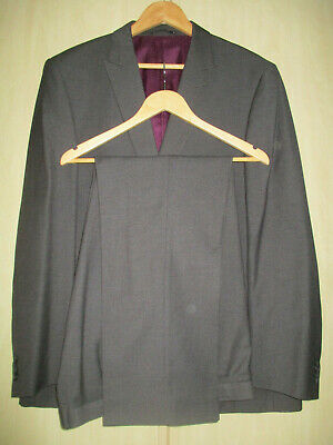 """mens TAYLOR & WRIGHT GREY TAILORED FIT SUIT SIZE 48""""L CHEST 42"""" WAIST 31"""" LEG"""