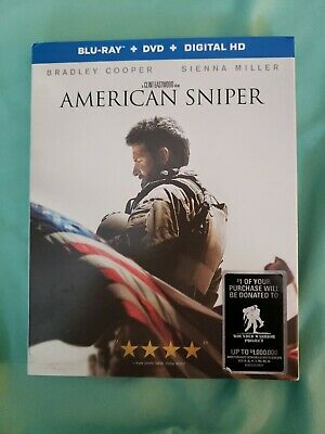 American Sniper (Blu-ray/DVD, 2015, 2-Disc Set