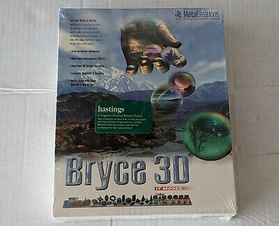 Bryce 3D PC MAC MetaCreations Software Animation Terrain Sculpting new sealed