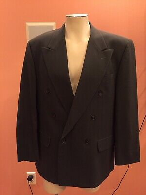 Men's Zeidler & Zeidler Suit Blazer Jacket Olive 40R Double Breasted 100% Wool