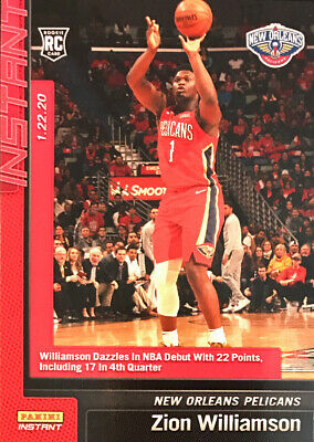 ZION WILLIAMSON RC - 2019-2020 Panini Instant #76 - NEW ORLEANS PELICANS DEBUT