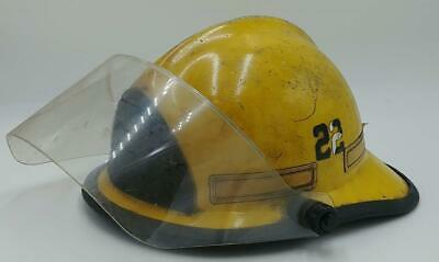 Yellow Cairns & Bros Firefighter's Fire & Rescue Helmet w/ Liner & Shield Fire