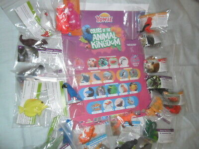 Yowies / Colors Of The Animal Kingdom / Full Set All 20 Toys & Papers + Poster