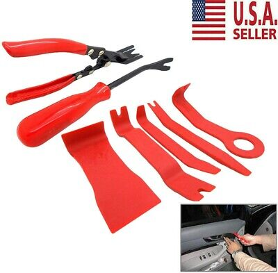 7 Plastic Body Removing Tools & Car Door Upholstery Trim Clip Removal Pliers