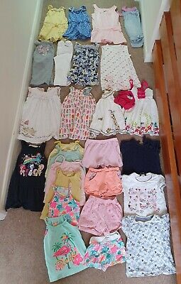 Toddler Girls age 18-24 summer clothes bundle 27 items