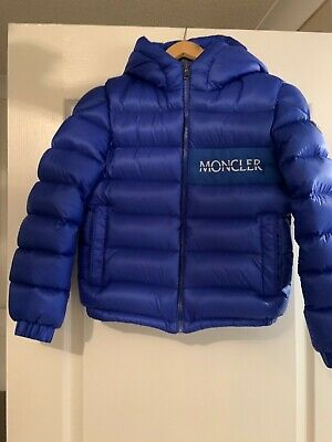 Boys moncler padded coat blue age 12 worn once bought from kids Carvan paid £480