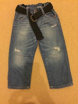 Baby Gap Boys Jeans With Belt Adjustable Waist Age 2 Years