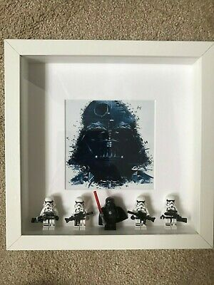 Lego type Star Wars picture with Darth Vader and Stormtroopers