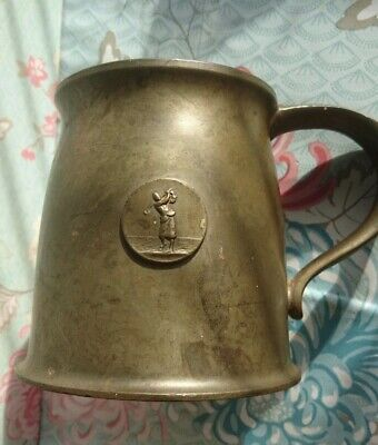 Antique, BCM Liberty Of London Tudric 01288 English Pewter Golf Tankard Beer Mug