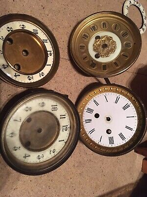 ANTIQUE  CLOCK  Faces FOR SPARES OR REPAIR X 4 Please Look