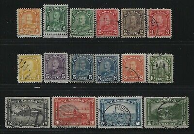 Canada - #162-#177 - King George V Arch/Leaf Issue Complete Used Set