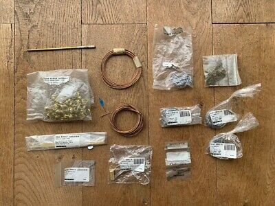 JOB LOT OF MOSTLY NEW CLOCK PARTS - Weights, springs, grommets etc