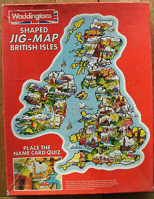 Waddington's Shaped Jig-Map Of The British Isles 2 Pieces Missing Used