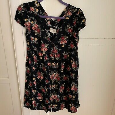 denim & supply black floral baby doll dress size small. GUC. Purchased at Macy's