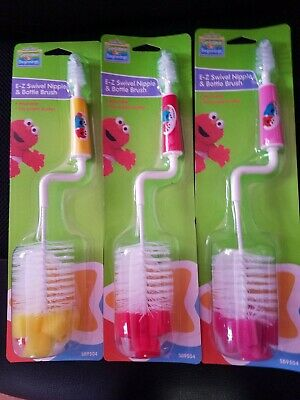 Sesame  Street E-Z Swivel Nipple & Bottle Brush baby bottle brush