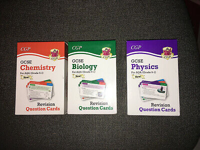 9-1 GCSE Science AQA Revision Question Cards by CGP Biology Physics Chemistry