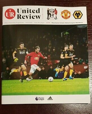 Manchester United v Wolverhampton Wanderers 1/2/2020 Official Matchday Programme