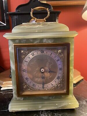 Stunning Elliot 8 Day Green Onyx Mantle Clock