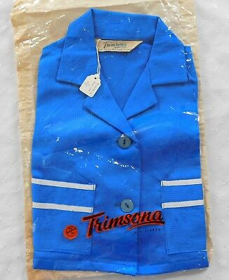 Vintage girls clothes 1950s blazer TRIMSONA Age 1 year blue coat jacket UNUSED