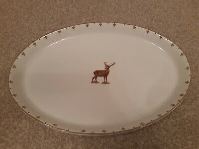 """Spode Glen lodge Stag Oval Platter 13"""" Approx"""