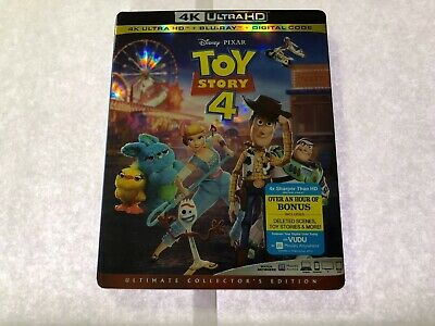 Toy Story 4 4K Ultra HD + Blu-Ray + Digital Sealed New With Slipcover