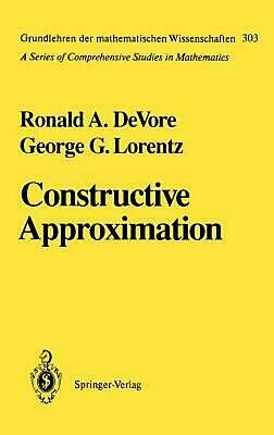 Constructive Approximation by Ronald A. DeVore (English) Hardcover Book Free Shi