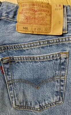 """Vintage USA Made Womens LEVI'S 501 High Rise Button Fly Mom Jeans 29x32"""" (27x31)"""