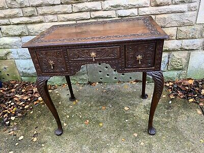 Beautiful Carved Oak Georgian Lowboy