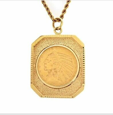 $5 Indian Gold Coin Necklace