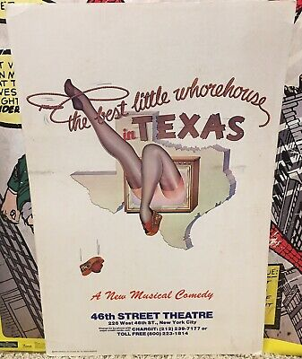 1978 The Best Little Whorehouse In Texas Musical Comedy Theatre Poster