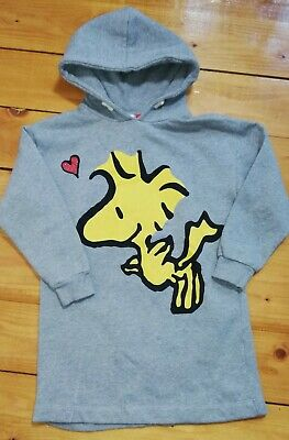Zara Girls Peanuts Snoopy Long Grey Hoodie Age 8