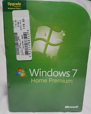 Microsoft Windows 7 Home Premium Upgrade GFC-00020 NEW SEALED GENUINE!        b8