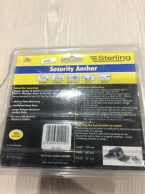 Sterling security anchor link and lock wall anchor floor anchor
