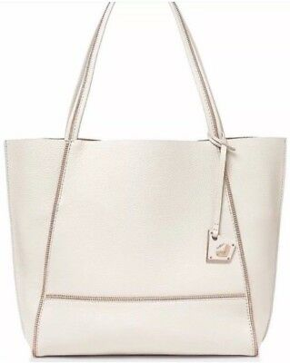 Botkier Soho Antique Off White Angora Rose Gold Large Tote Handbag Purse Nwt