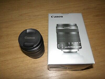 Canon EF-S 18-135mm f/3.5-5.6 IS STM Lens complete with both end caps and box
