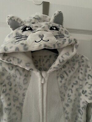 Jumpsuit All In One 8-9y Cute Cozy Leotard Cat Winter Spring Girls 2available