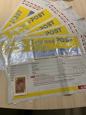 NEW Australia Post Pack of 5 x Express Platinum Satchels 3kg !