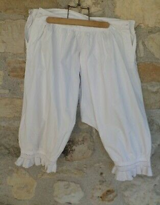 Authentic Edwardian  French Bloomers Pantomime Open Crotch Knickers Lingerie